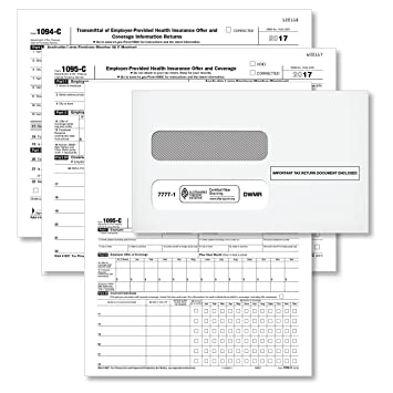 Amazon Form 1095 C Health Coverage And Envelopes Includes 3