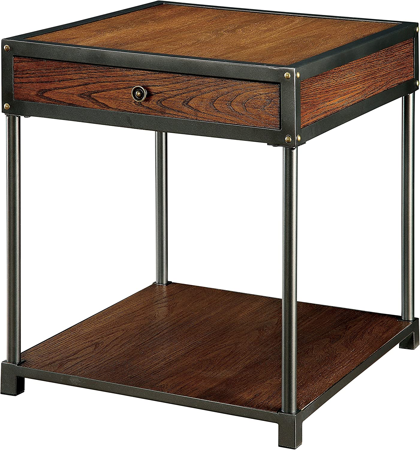 Furniture of America Clyde Coffee Table with Drawer