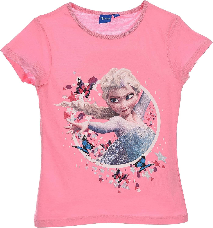 Disney Frozen Elsa T-Shirt Stampata Ufficiale Maglia Bambina da 4 a 8 Anni 0922