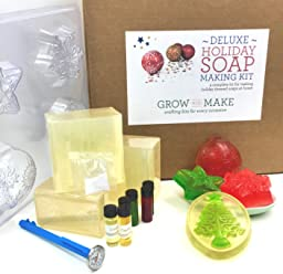 Grow and Make DIY Deluxe Holiday Soap Making Kit - Make your own festive soap for the holidays!