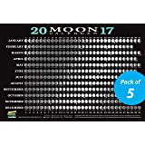 2017 Moon Calendar Card (5-pack): Lunar Phases, Eclipses, and More!