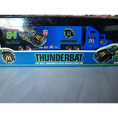 McDonald's Racing Team Thunderbat 1/64 Scale Transporter with Premier Stock Car: Toys & Games