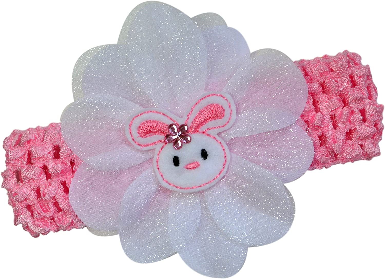 Pink Easter Nylon Headband Girl Headband Infant Headband Baby Headband Baby Girl Headband Easter Hair Bow Easter Headband Bunny Bow