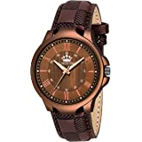 LIMESTONE Analogue Round Brown Strap Men's Watch - LS2774