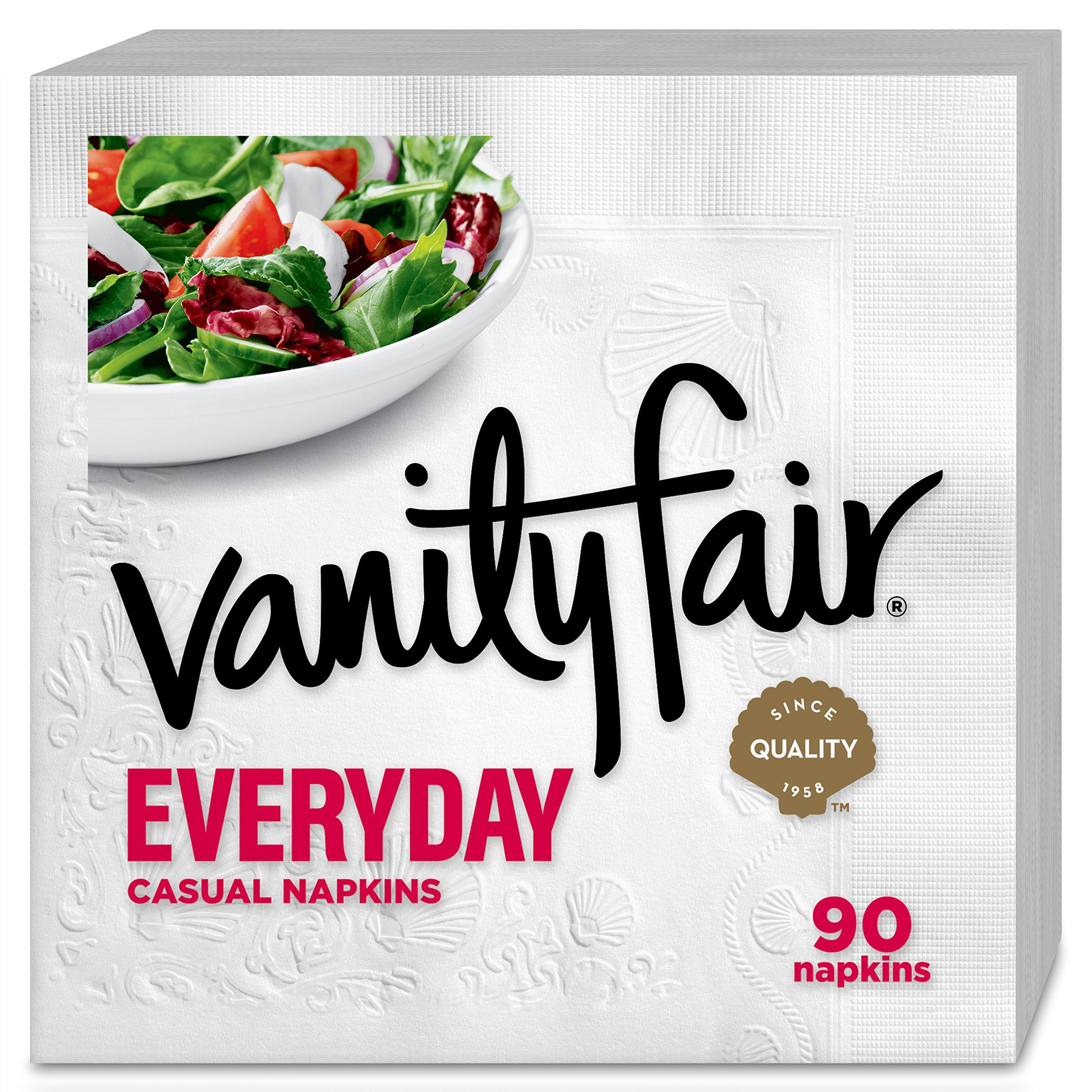Vanity Fair Everyday Napkins, 1080 Count, White Paper Napkins, 12 Packs of 90 Napkins by Vanity Fair (Image #3)