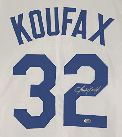 1be7a13c6f9d2 Sandy Koufax Los Angeles Dodgers Signed Autographed White  32 Custom Jersey