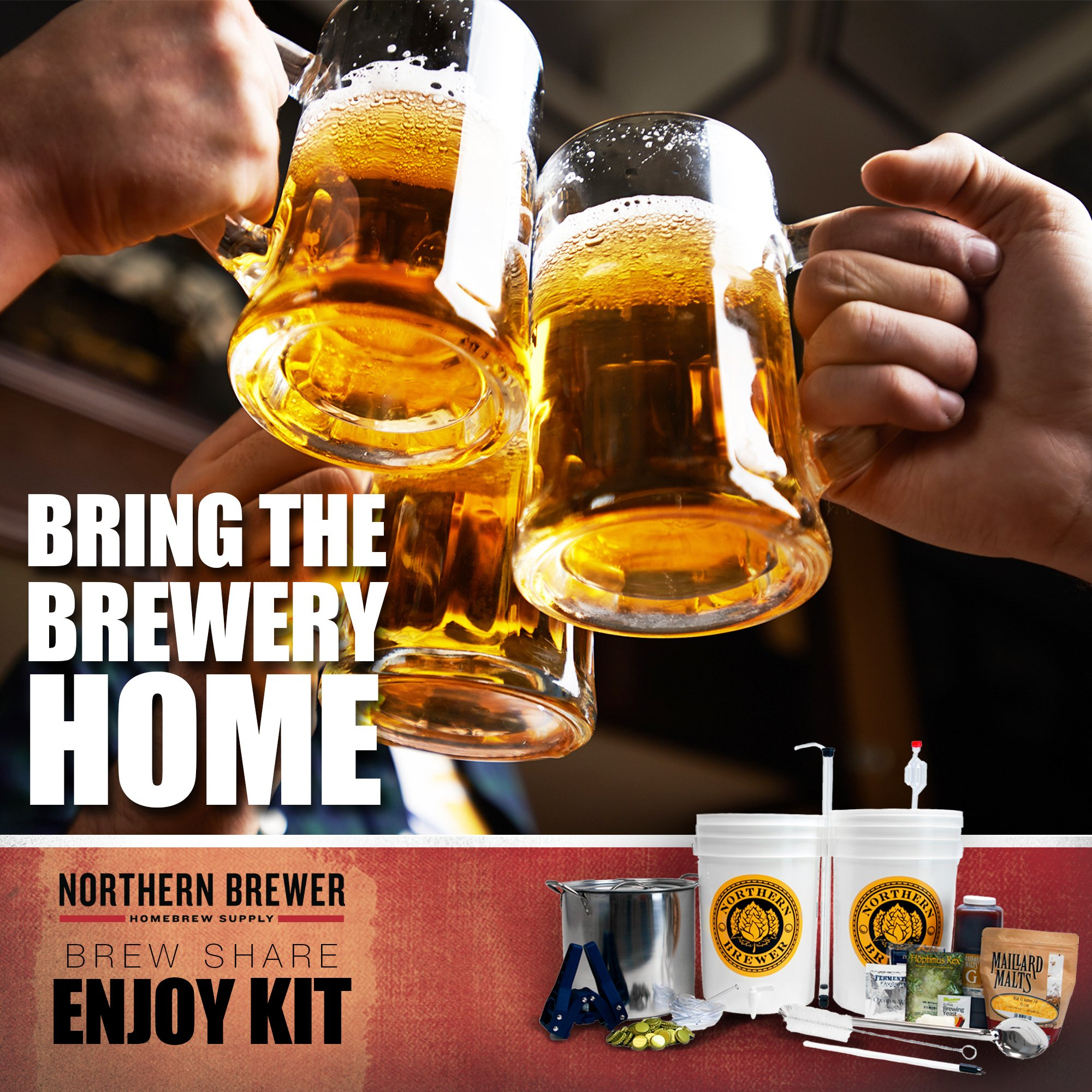 Northern Brewer - Brew. Share. Enjoy. Homebrew 5 Gallon Beer Brewing Starter Set Recipe Kit and Brew Kettle (Block Party Amber) by Northern Brewer (Image #8)