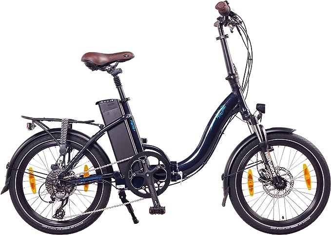 NCM Paris (+) Bicicleta eléctrica Plegable, 250W, Batteria 36V ...