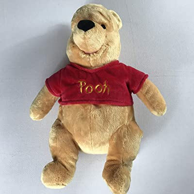 "Pooh Disney Store Bear Plush Large 17"" Stuffed Beans Stamped Toy Patch Winnie: Toys & Games"