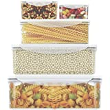 Food Storage Containers- LOVKITCHEN 10-Piece Set Nesting Set Storage Containers, Meal Prep Containers- BPA Free with Leak Proof and Snap Locking Lids,Microwave Safe(0.24L,0.5L,0.9L,1.5L,2.4L)