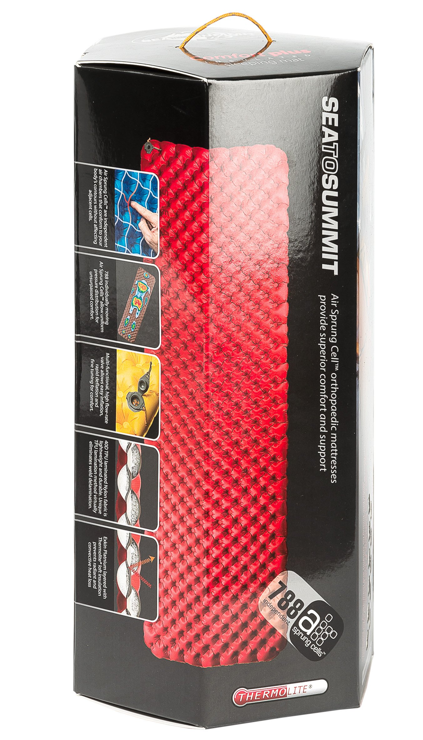 Sea to Summit Comfort Plus Insulated Sleeping Mat (Large Rectangular / Red) by Sea to Summit (Image #2)