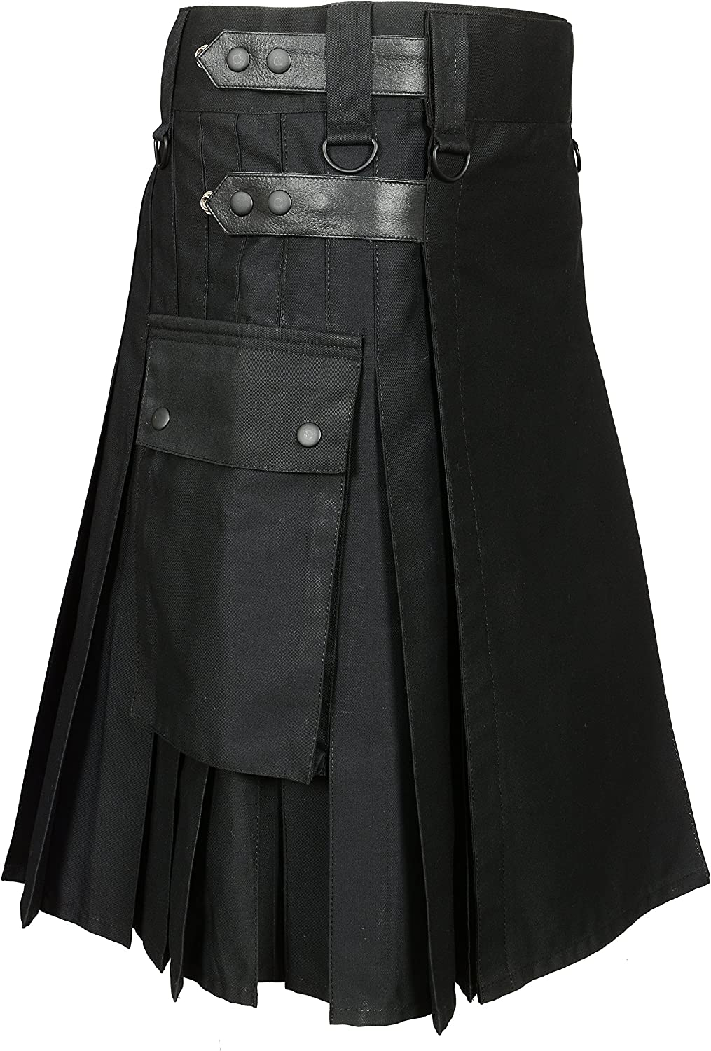 Men 's Black Utility Kilt