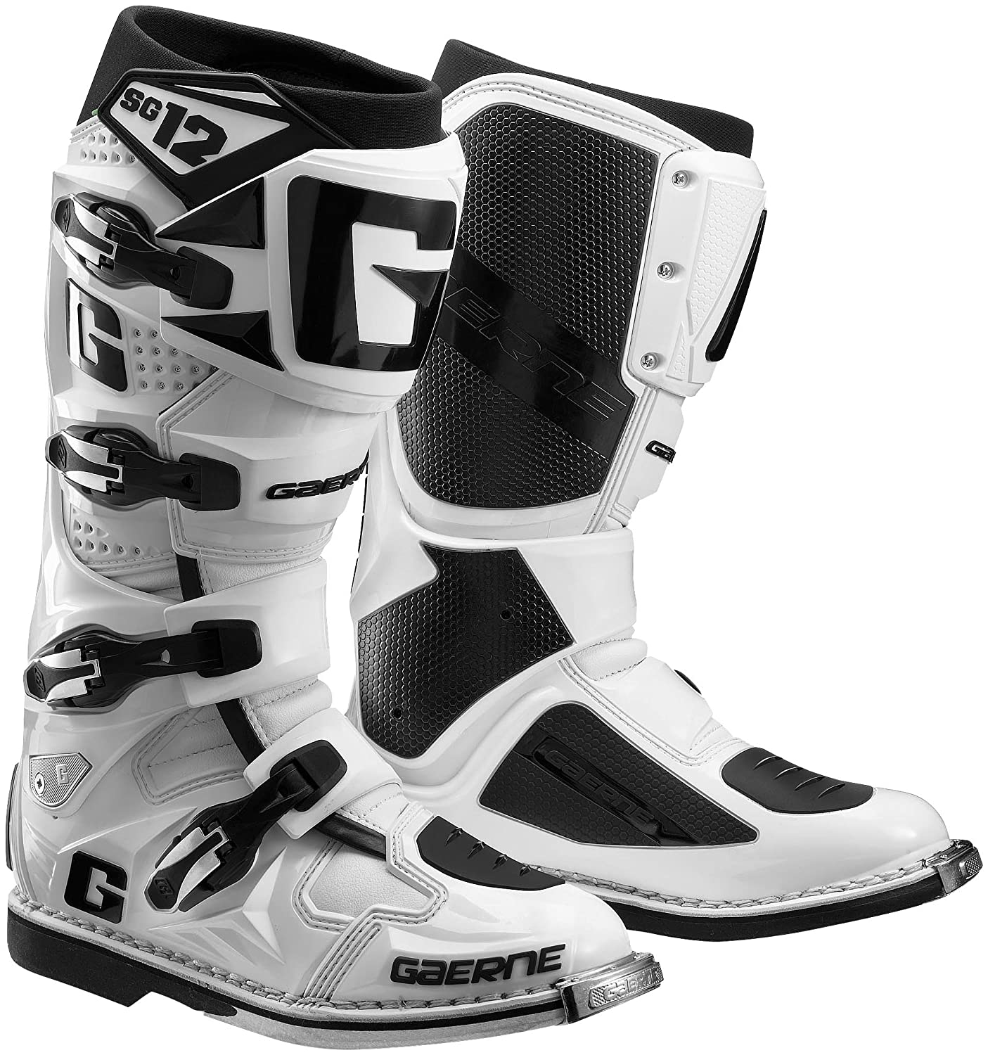 Gaerne SG12 Adult Off-Road Motorcycle Boots, White, 11 B00M9IFT9I Parent
