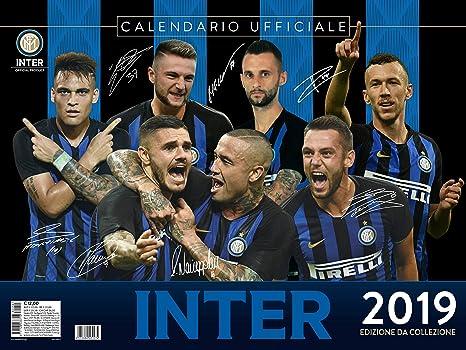 Inter Milan Calendrier.Inter 2019 Calendrier Officiel 44x33 Amazon Fr Sports