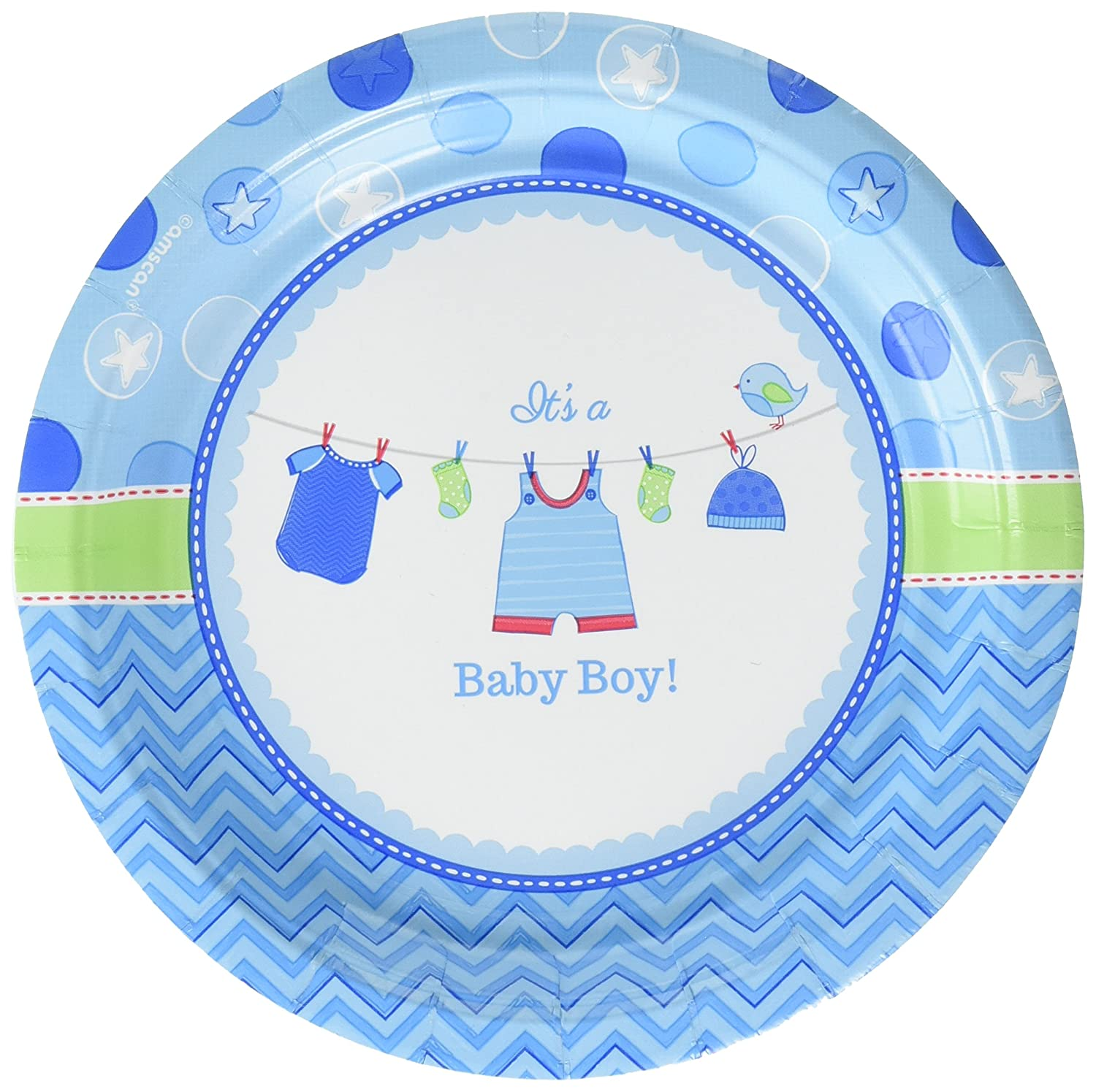 Amscan Its a Baby Girl 7 Pink Round Plates 541489 96 Ct