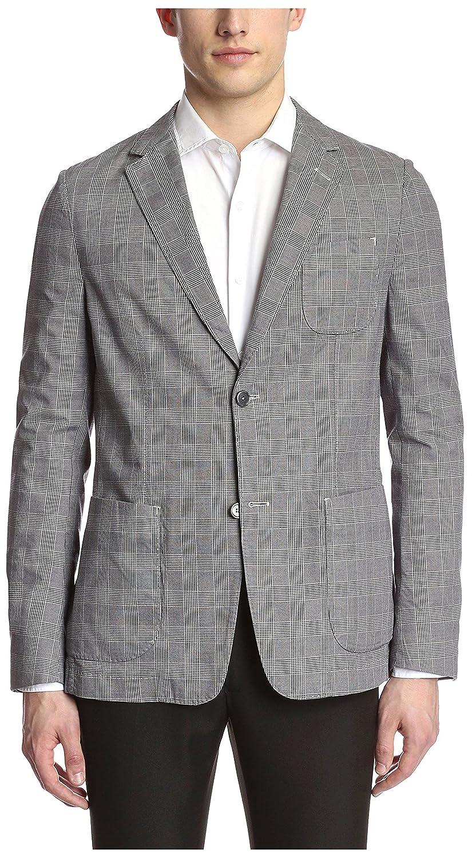db577214b7709 Ermenegildo Zegna Men's Glen Plaid Blazer, Grey, 46 EU: Amazon.in: Clothing  & Accessories