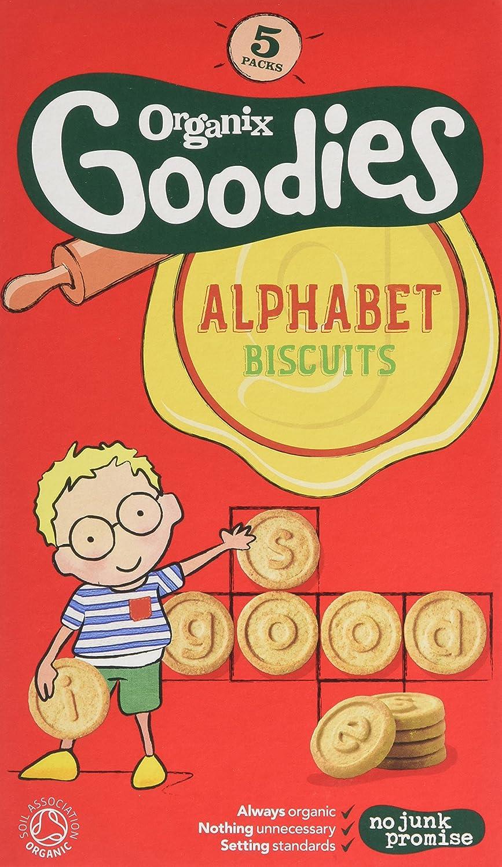 Organix Goodies Organic Alphabet Biscuits Bags (Pack of 3, Total 15) TRTAZ11A