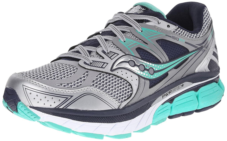 Saucony Women's Redeemer ISO Running Shoe B00PIWIPAC 7.5 B(M) US|Silver/Grey