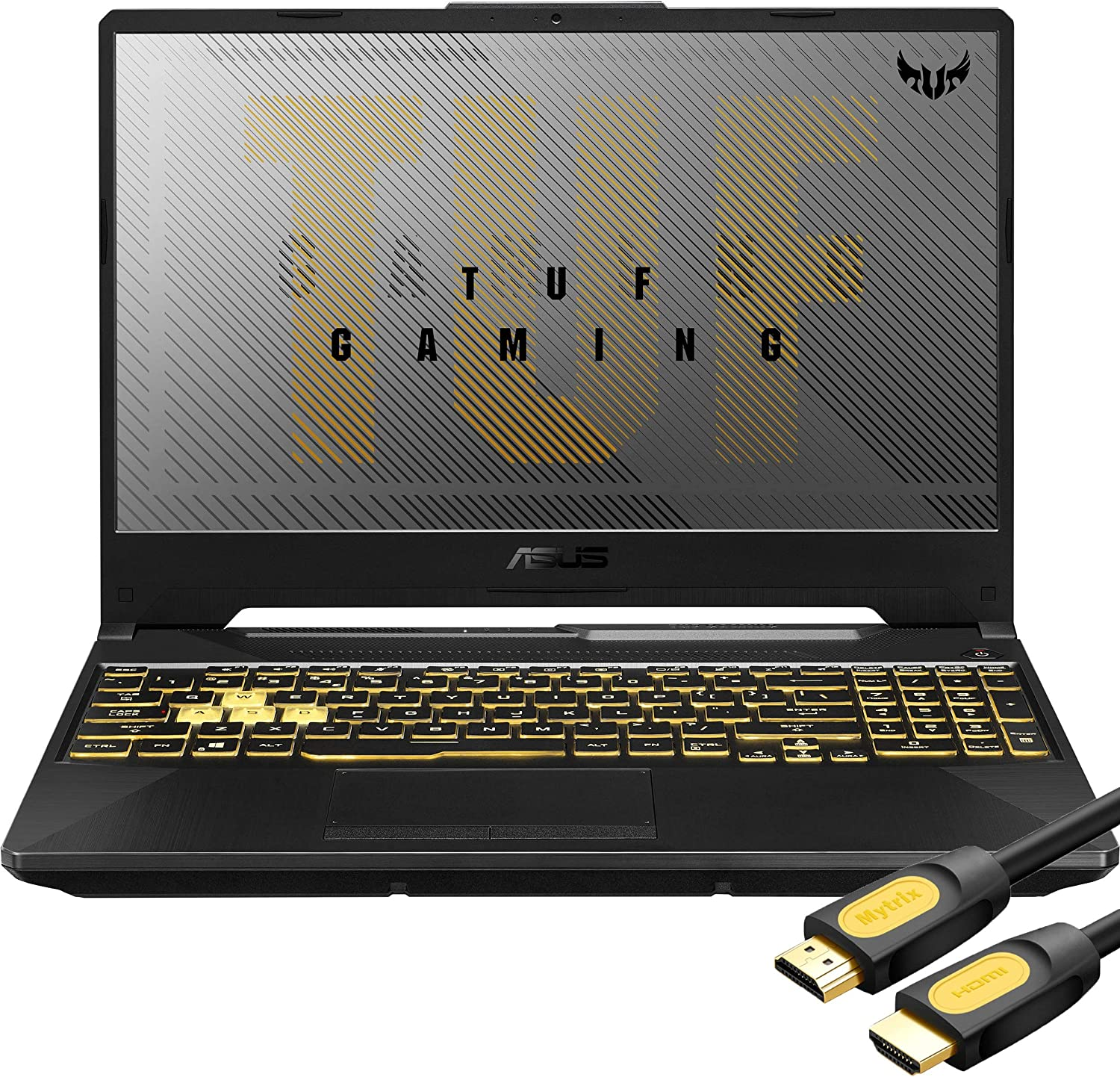 "ASUS TUF Gaming VR Ready Laptop, 15.6"" IPS FHD, AMD Ryzen 7 4800H 8-Core up to 4.20 GHz, NVIDIA RTX 2060, 32GB RAM, 512GB SSD+2TB SSHD, RGB KB, RJ-45 LAN, Mytrix HDMI 2.0 Cable, Win 10"