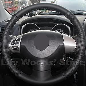 Amazon Com Ji Genuine Leather Steering Wheel Cover For Mitsubishi