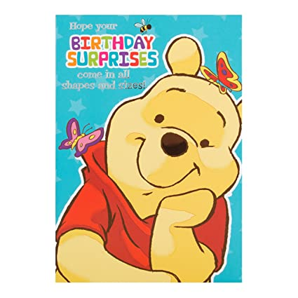 Amazon Hallmark Winnie The Pooh Birthday Card All Shapes And