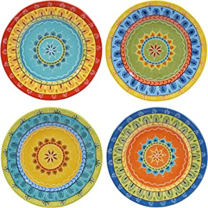 "Certified International Valencia Dessert Plates (Set of 4), 8.75"", Multicolor"