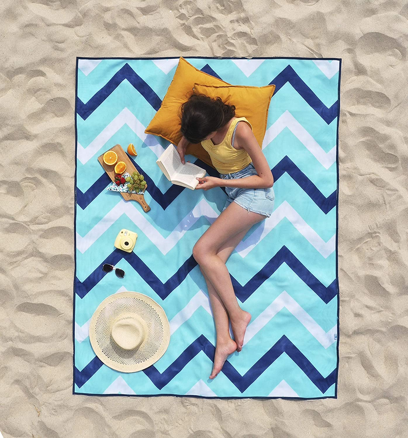 CGear Sandlite camping Patented Sand-Free Beach Mat thats durable and all outdoor adventures. water-resistant and great for family picnics