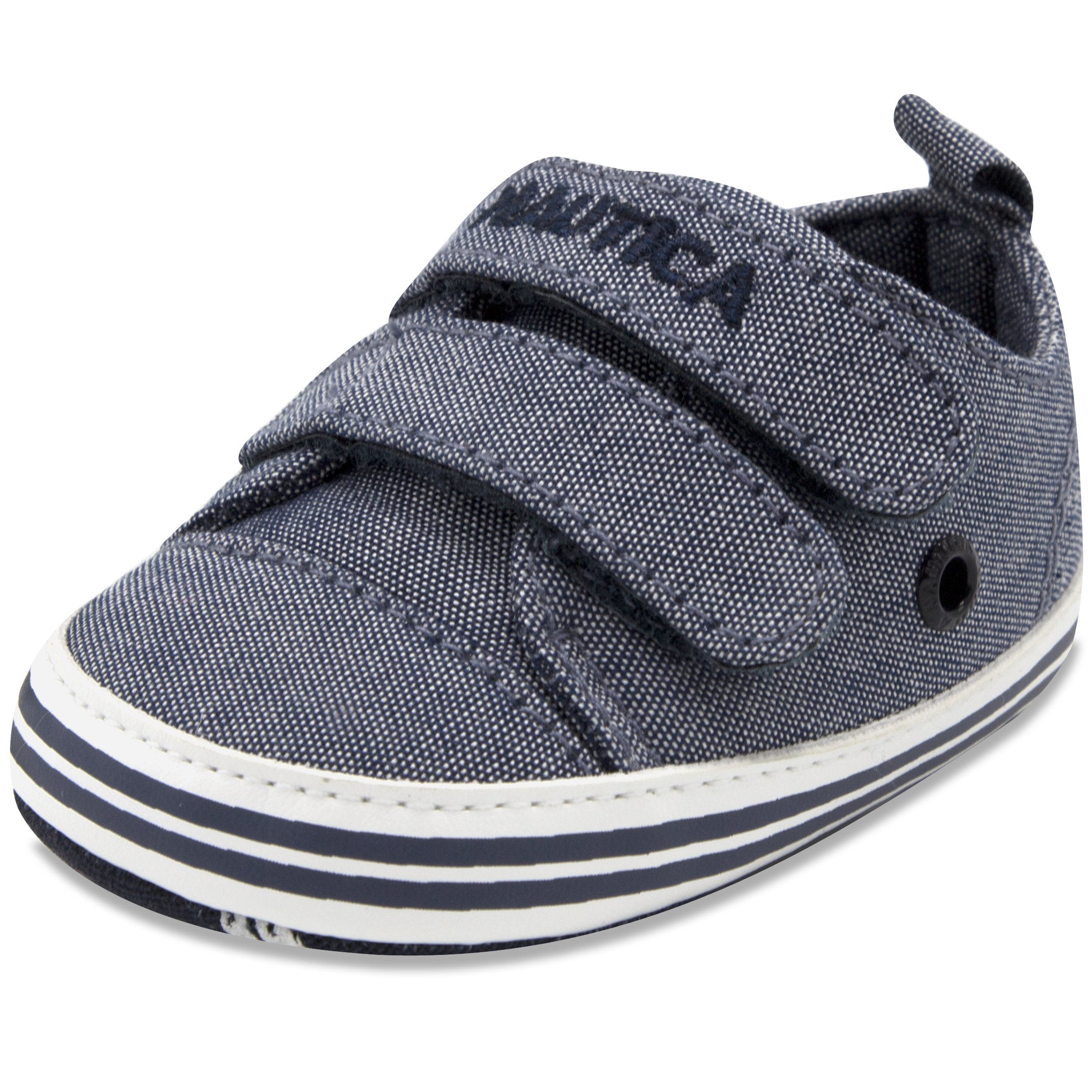Nautica Tiny Bobstay, Baby Prewalker, Crib Sneakers, Toddler/Infant Soft Sole Shoes Denim-2