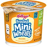 Kellogg's Frosted Mini-Wheats, Breakfast Cereal in a Cup, Original, Low Fat, Made from 100% Whole Grain, Bulk Size, 12…