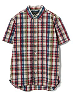 Short Sleeve Check Seersucker Buttondown Shirt 11-01-0733-139: Light