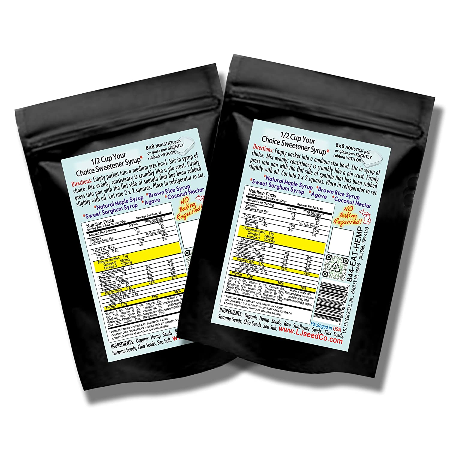 Lady Jane Gourmet Seed Co GalaxSEED Energy Bar Mix, 2 count ...