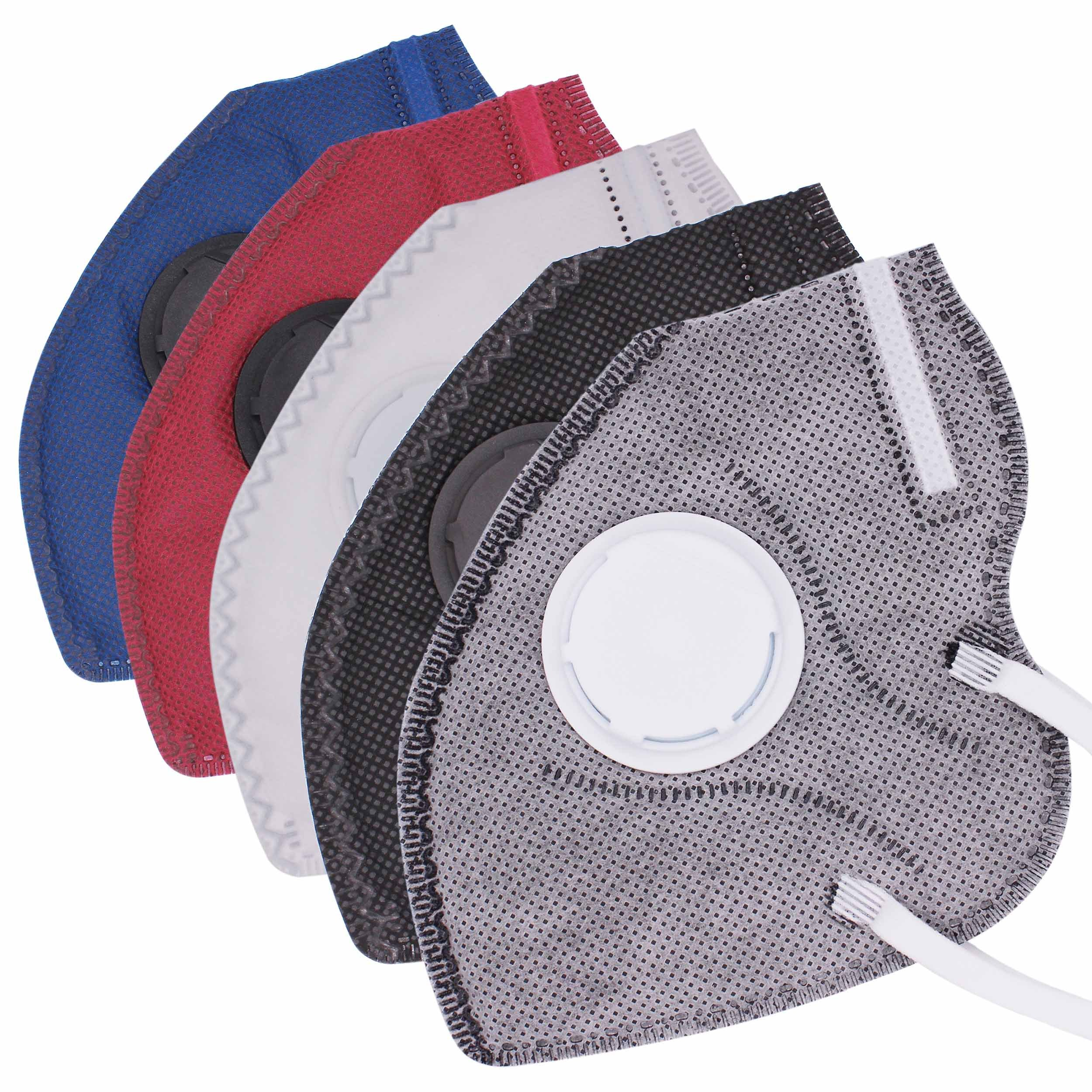 Respirator Mouth Mask Anti Pollution Mask Unisex Outdoor Protection N95 4 Layer Filter Insert Anti Dust Mask with Valve Filter KZ22