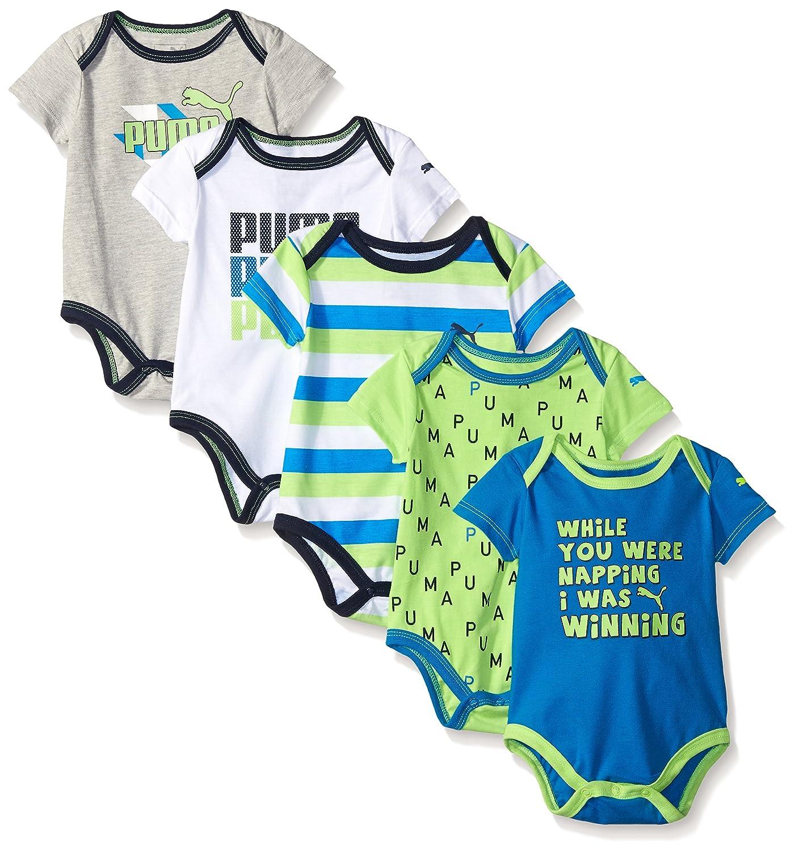 Amazon PUMA Baby Boys 5 Pack Bodysuit Pack Clothing