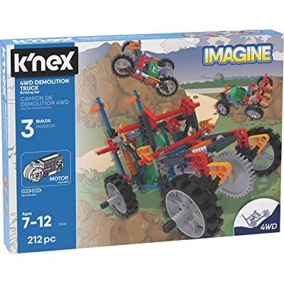 K'NEX K'Nex Imagine – 4WD Demolition Truck Building Set – 212Piece – Ages 7+ – Engineering Educational Toy Building Set: Toys & Games