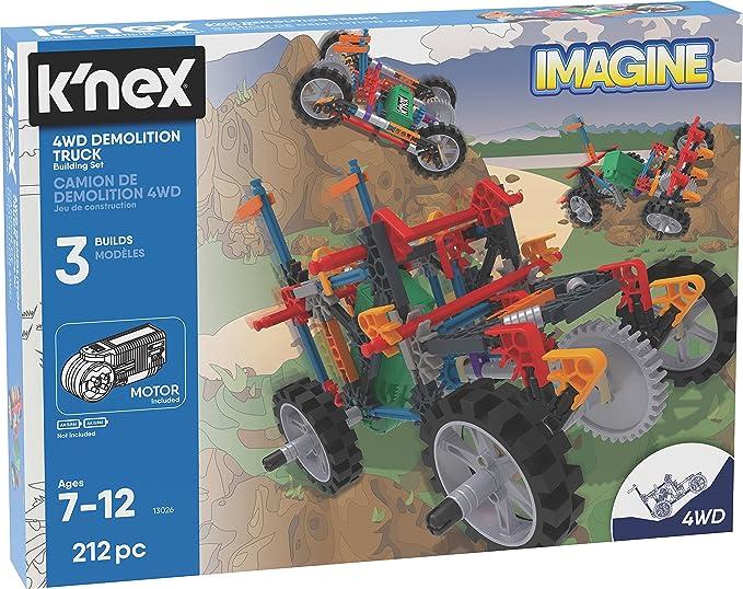 Knex Imagine - 4WD Demolition Truck Building Set - 212 Piezas ...