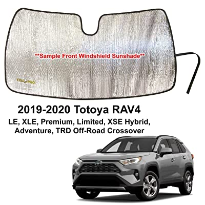 YelloPro Auto Custom Fit Car Front Windshield Reflective Sunshade Protector for 2020 2020 Toyota RAV4 LE XLE Premium Limited XSE Hybrid Adventure Crossover, Sun Shade Accessories, Made in USA: Automotive