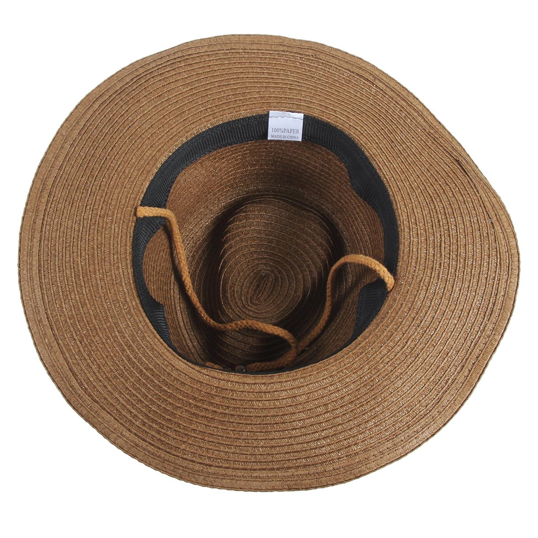 Sidiou Group Uomo Cappelli da cowboy Donne Cappa da spiaggia Unisex Fedora  Trilby Cappello Hat Hat 8285556e817c