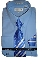 Karl knox sx4352 mens white eyelet collar bar french cuff for Mens eyelet collar dress shirts