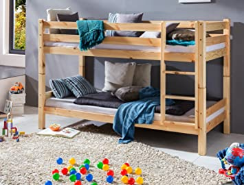 Etagenbett Zwei Einzelbetten : Etagenbett weiß echtholz vollholz zwei einzelbetten in