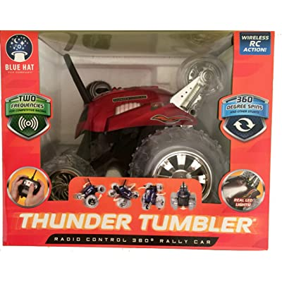Thunder Tumbler Radio Control 360 Degree Rally Car Red: Toys & Games