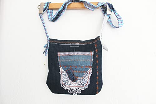 : Navy Blue handbags, Jeans bags, Jeans Crossbody