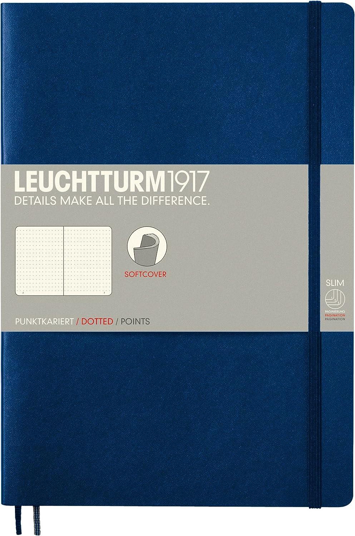 LEUCHTTURM1917 349271 Notebook Softcover Composition azure B5 plain