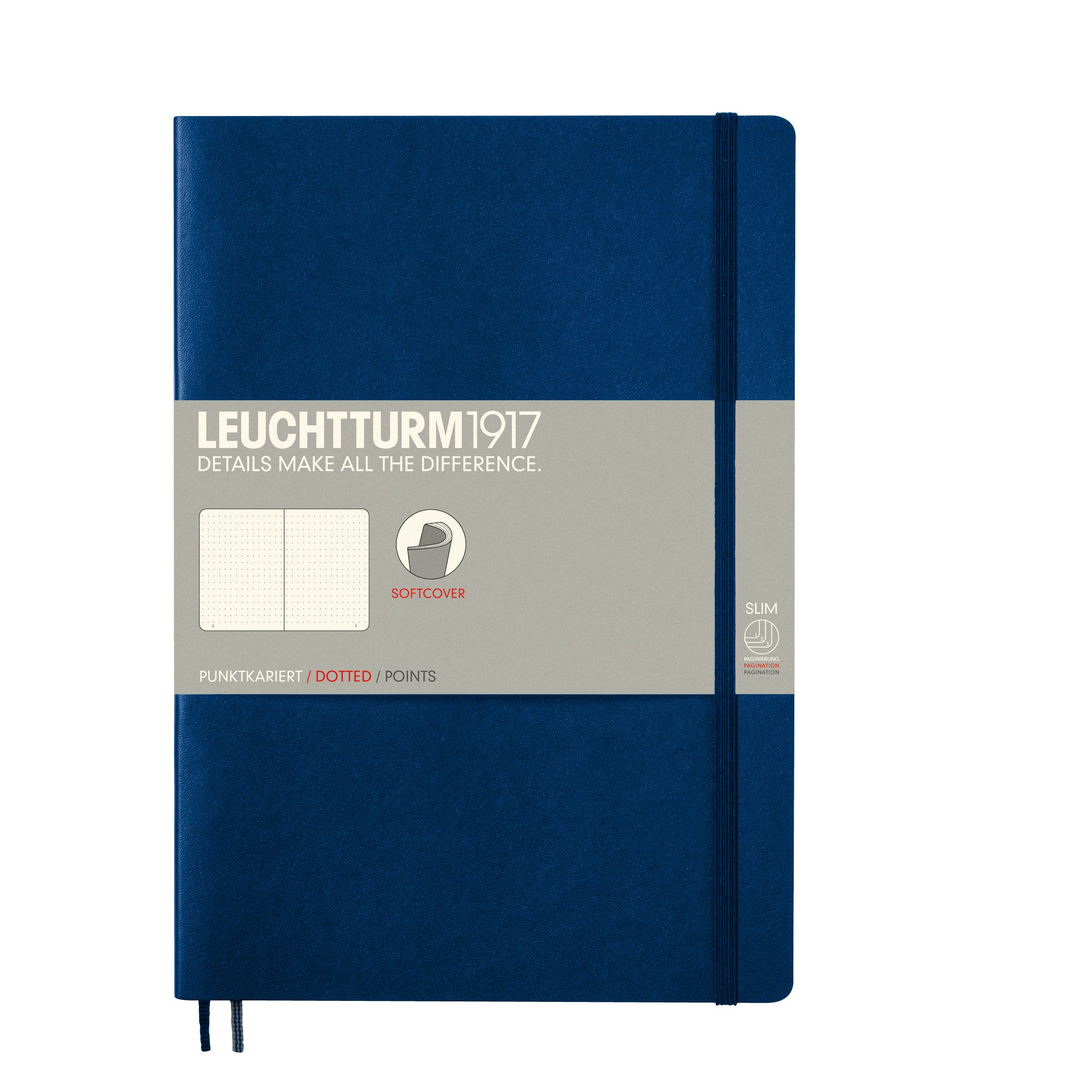 Leuchtturm Softcover Composition B5 Dotted Notebook [Navy] by LEUCHTTURM1917 (Image #1)