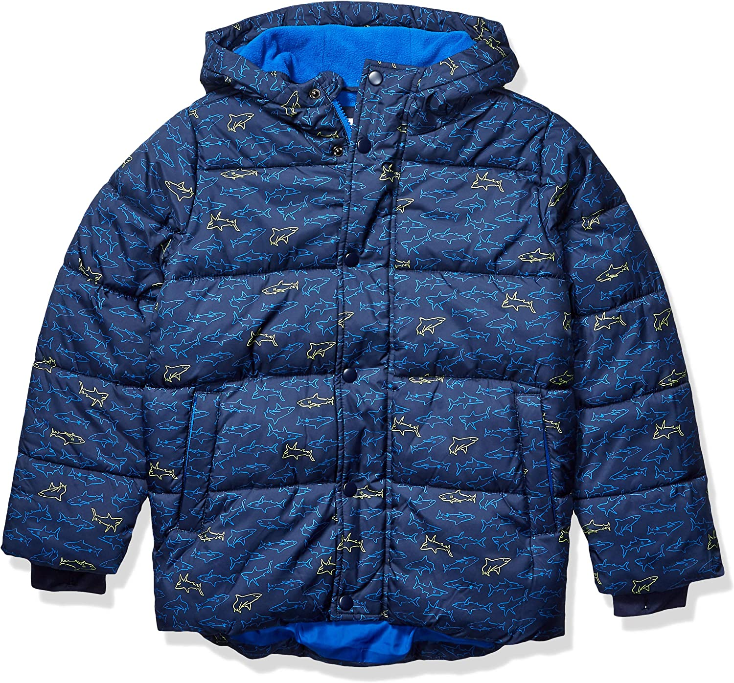 Amazon Essentials Boys Heavy-Weight Hooded Puffer Jackets Coats
