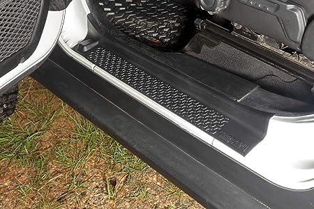 NYSCJJJ Front Entry Guardie Protezioni soglie dingresso a Piastre di Jeep Wrangler JL 2018 for la soglia Jeep Gladiator JT 2018 Color : Black ABS 2 Door Bar St