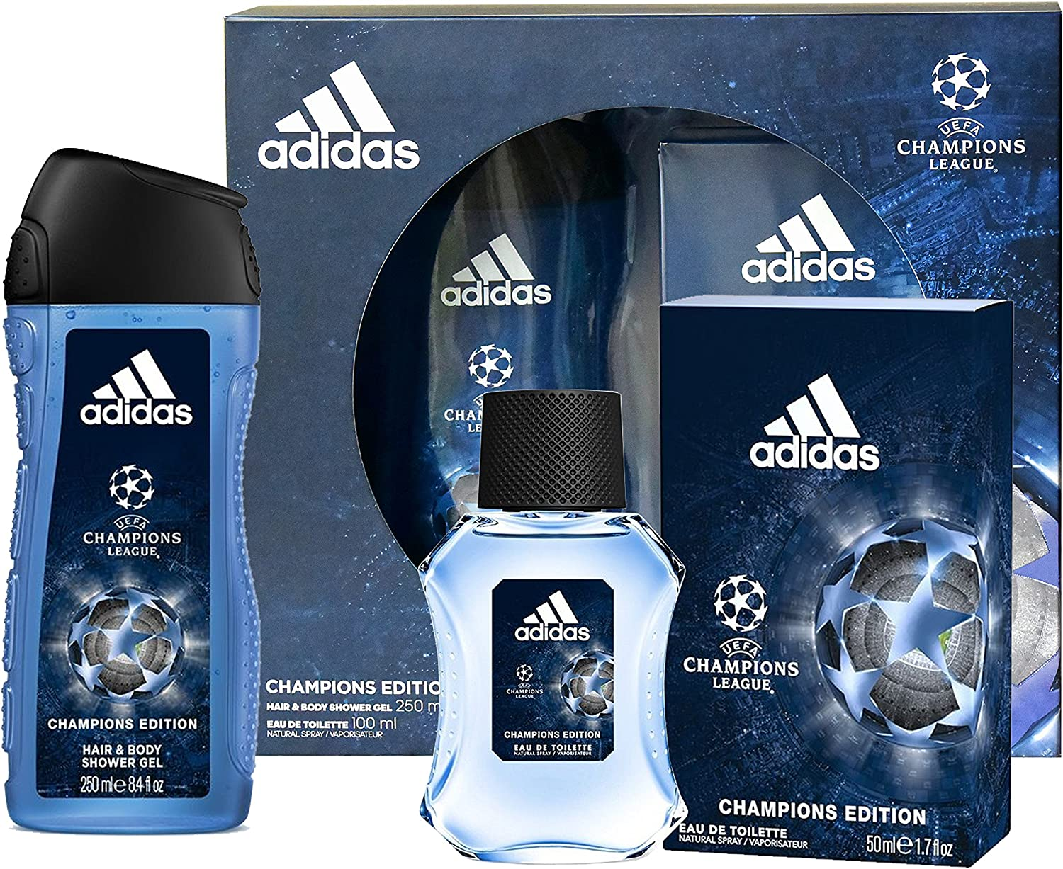 Coffret hombre Adidas Champions League 2017 – Eau de Toilette 100 ml y gel de ducha 250 ml: Amazon.es: Belleza