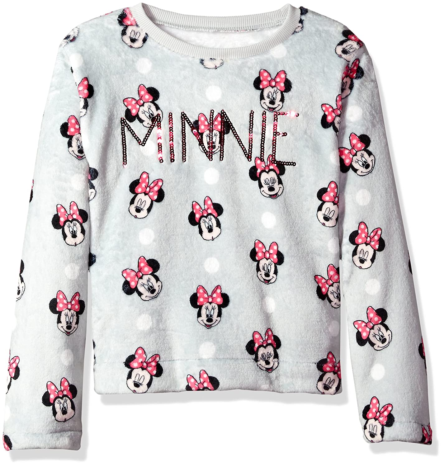Disney Girls Minnie Mouse Woobie Long Sleeve Pullover Sweater
