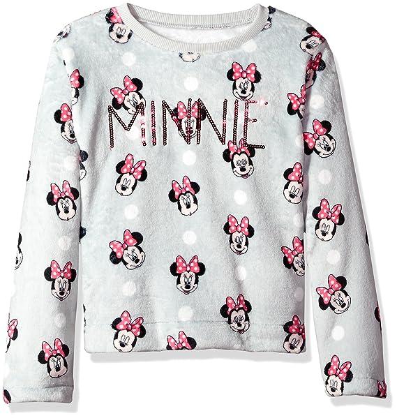 88e25fed4 Amazon.com  Disney Girls  Big Minnie Mouse Woobie Long Sleeve ...