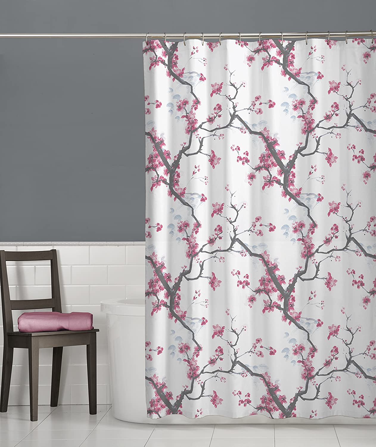 Cherrywood Fabric Shower Curtain