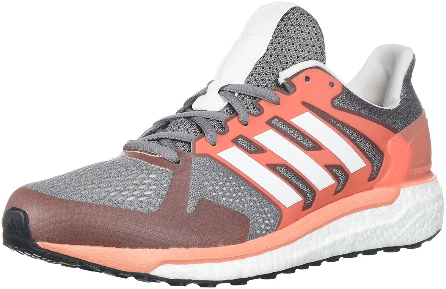 adidas Women's Supernova St W Running Shoe B072FH7HVM 7 B(M) US|Grey Three/White/Chalk Coral